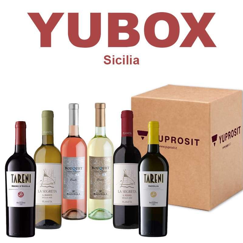 """Box Yuprosit """"La Sicilia"""" 6 bottiglie..."""